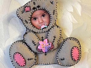 Мастер-класс: детская фоторамка «Костюмчик Тедди» из фетра. Ярмарка Мастеров - ручная работа, handmade.