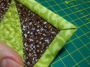 Как аккуратно оформить уголок изделия косой бейкой. | Ярмарка Мастеров - ручная работа, handmade