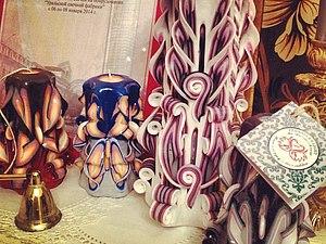 Резные свечи | Ярмарка Мастеров - ручная работа, handmade