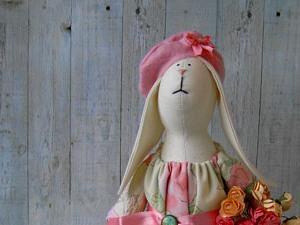 Текстильный зайчик | Ярмарка Мастеров - ручная работа, handmade