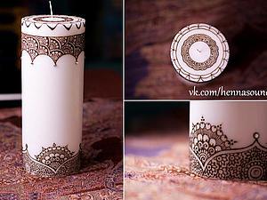 Мастер класс по росписи свечей | Ярмарка Мастеров - ручная работа, handmade