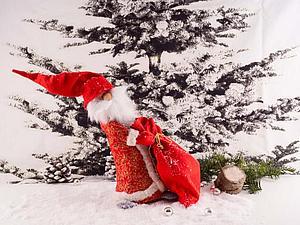 «К нам спешит Дед Мороз!»: шьем забавного дедушку | Ярмарка Мастеров - ручная работа, handmade