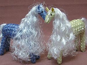 Белогривая лошадка  handmade