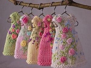 Миниатюрная вязаная одежда для эльфов | Ярмарка Мастеров - ручная работа, handmade