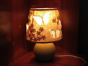 Мастерим ночник из фетра со светящимися бабочками. Ярмарка Мастеров - ручная работа, handmade.