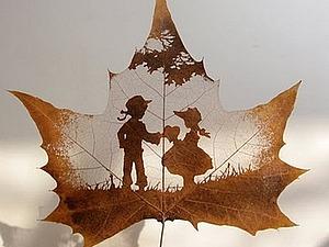 Резьба по листьям | Ярмарка Мастеров - ручная работа, handmade