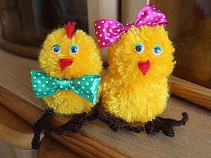 Видео мастер-класс: вяжем пасхального цыпленка. Ярмарка Мастеров - ручная работа, handmade.