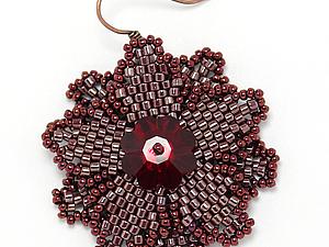 Создаем симпатичные серьги-цветки с кристаллами. Ярмарка Мастеров - ручная работа, handmade.