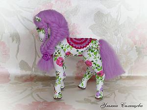 Лошадка - символ 2014 года  handmade