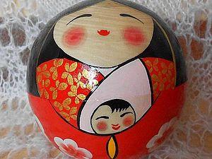 Японские сёстры русской матрешки &#8211&#x3B; талисманы удачи Кокэси. Ярмарка Мастеров - ручная работа, handmade.