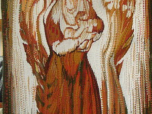 Ручное ткачество Гобелен Авторская дипломная работа  Авторская дипломная работа Материнство мастер Белая Юлия