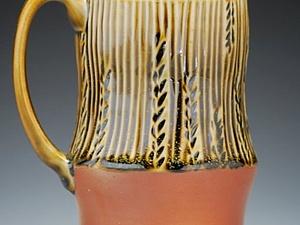 Лепка и роспись кружки с блюдцем. Керамика | Ярмарка Мастеров - ручная работа, handmade