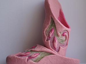 Мастер-Класс по валянию тапочек без пятки | Ярмарка Мастеров - ручная работа, handmade