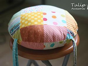 Мастер-класс: Подушка-сидушка лоскутная. Ярмарка Мастеров - ручная работа, handmade.