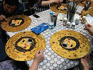 Часы по мотивам Климта  - авторский МК Натальи Полех! | Ярмарка Мастеров - ручная работа, handmade