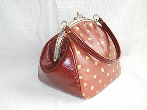 Курс по изготовлению сумок из кожи: Сумочка на фермуаре | Ярмарка Мастеров - ручная работа, handmade