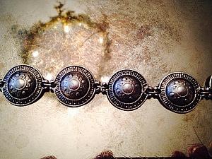Новый посеребренный браслет