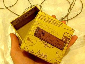 Мастерим коробочку для броши. Ярмарка Мастеров - ручная работа, handmade.