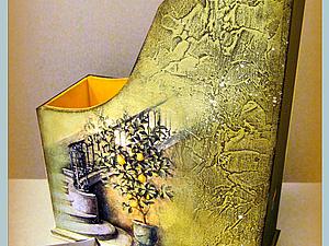 """Накопитель для бумаг """"Итальянская фреска"""". Мастер-класс от """"Base of Art"""".. Ярмарка Мастеров - ручная работа, handmade."""