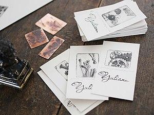 Брутальные визитки для брутальных стимпанкеров:)  Ну или просто людей, знающих как подать себя дорог, handmade