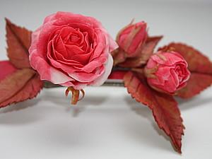 Мастер-класс по лепке из флористической глины. Роза для авторской бижутерии. | Ярмарка Мастеров - ручная работа, handmade
