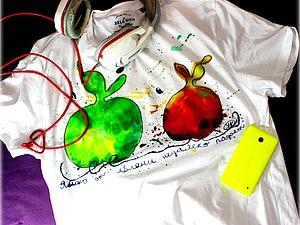 Видео мастер-класс «Творчество с детьми. Роспись футболки для папы». Ярмарка Мастеров - ручная работа, handmade.