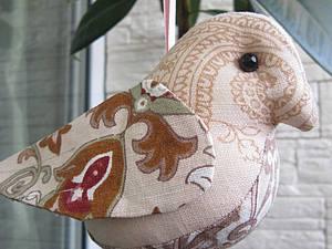 Текстильная интерьерная птичка | Ярмарка Мастеров - ручная работа, handmade