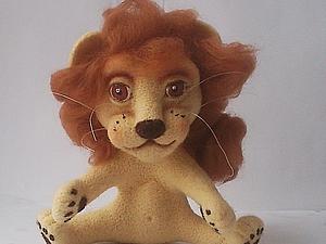 Войлочный львенок Рудольф. | Ярмарка Мастеров - ручная работа, handmade
