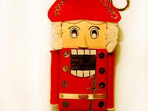игрушка из фетра Щелкунчик | Ярмарка Мастеров - ручная работа, handmade