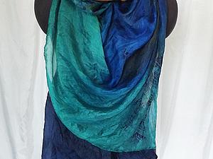 Шелковые шарфы в технике батик   Ярмарка Мастеров - ручная работа, handmade