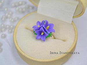 Делаем кольцо с нежными колокольчиками из полимерной глины | Ярмарка Мастеров - ручная работа, handmade