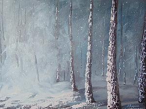 Пишем вместе картину «Метель в сосновом лесу». Ярмарка Мастеров - ручная работа, handmade.