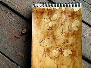 Видеоурок: рисуем иглой кофейных бабочек. Ярмарка Мастеров - ручная работа, handmade.