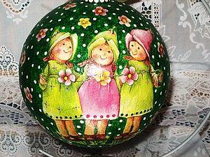 Большущие Новогодние шары. Работа с объёмным предметом. | Ярмарка Мастеров - ручная работа, handmade
