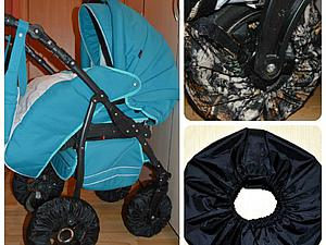 Шьем чехол-бублик на липучке для колеса коляски или велосипеда. Ярмарка Мастеров - ручная работа, handmade.