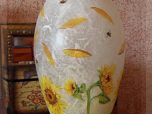 Декупаж стеклянной вазы | Ярмарка Мастеров - ручная работа, handmade
