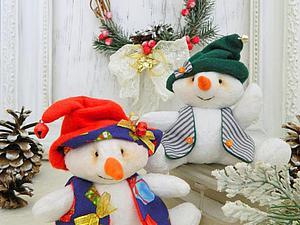 Шьем  небольшого снеговичка. Ярмарка Мастеров - ручная работа, handmade.