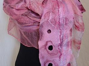 Валяем на шёлке  весенний шарфик (новичкам) | Ярмарка Мастеров - ручная работа, handmade
