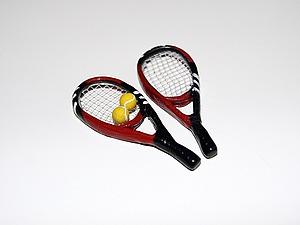 Видео мастер-класс: лепим миниатюрные теннисные ракетки. Ярмарка Мастеров - ручная работа, handmade.