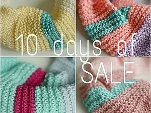 С 1 по 10 ноября специальная цена на круговые хлопковые шарфы | Ярмарка Мастеров - ручная работа, handmade