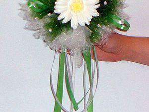 Собираем букет для невесты из белых гербер. Ярмарка Мастеров - ручная работа, handmade.
