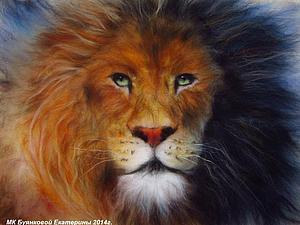 Мастер-класс по картинам из шерсти  - Лев, Белая Лошадь, Овечка | Ярмарка Мастеров - ручная работа, handmade