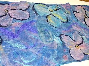 Тончайший палантин из мериносной шерсти и шелковых волокон. | Ярмарка Мастеров - ручная работа, handmade