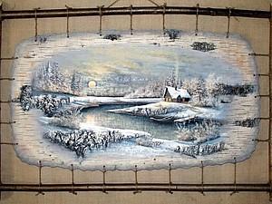 Картины на бересте Сергея Сурина | Ярмарка Мастеров - ручная работа, handmade