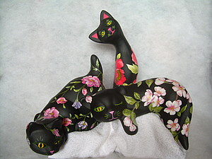 Кошки в цветах | Ярмарка Мастеров - ручная работа, handmade