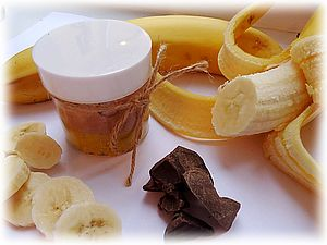 Шоколадно-банановый скраб для тела | Ярмарка Мастеров - ручная работа, handmade