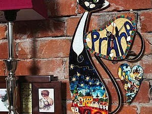 МК по витражной росписи «Эффект эмали. Пражский Кот» | Ярмарка Мастеров - ручная работа, handmade