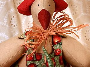Шьем пасхальную курочку или гуся в стиле Тильда - на ваш выбор! | Ярмарка Мастеров - ручная работа, handmade