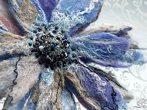 Валяем брошь-цветок. Часть вторая, сборка. | Ярмарка Мастеров - ручная работа, handmade