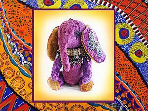 Слоник из индийской сказки: создаем игрушку в стиле «тедди» | Ярмарка Мастеров - ручная работа, handmade